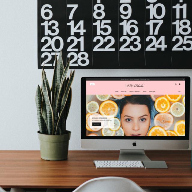 Website Redesign - LashHolic - Gold Coast Web Design
