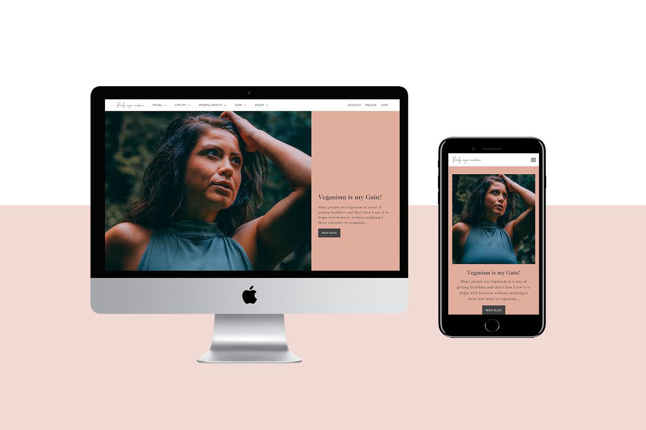 Purely Vegan Existence Shopify Web Design Gold Coast