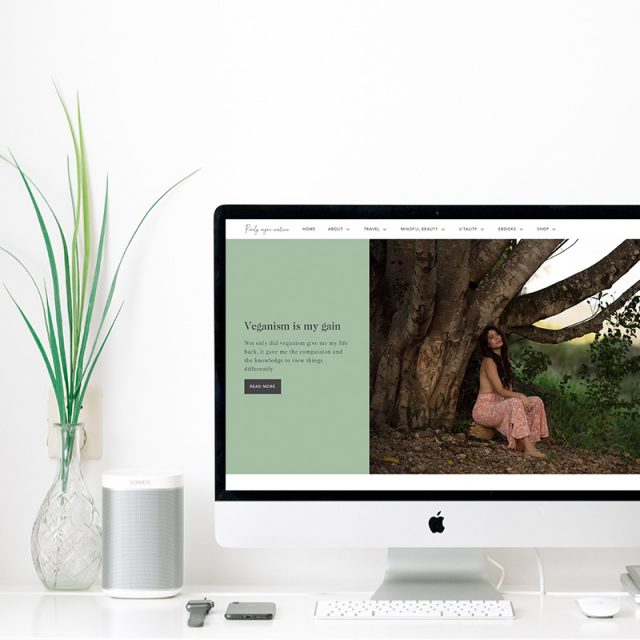 Purely Vegan Existence Web Design Project Little Palm Creative Co.