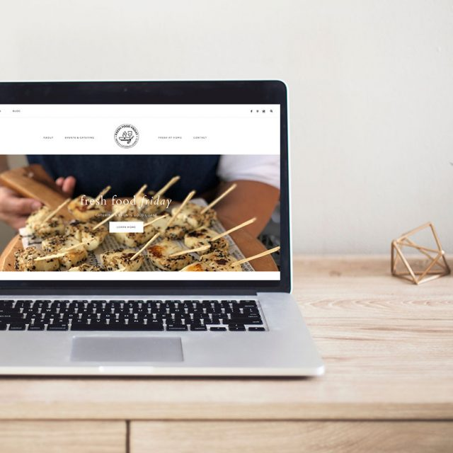Fresh Food Friday Website Redesign | Gold Coast Web Design Little Palm Creative Co.