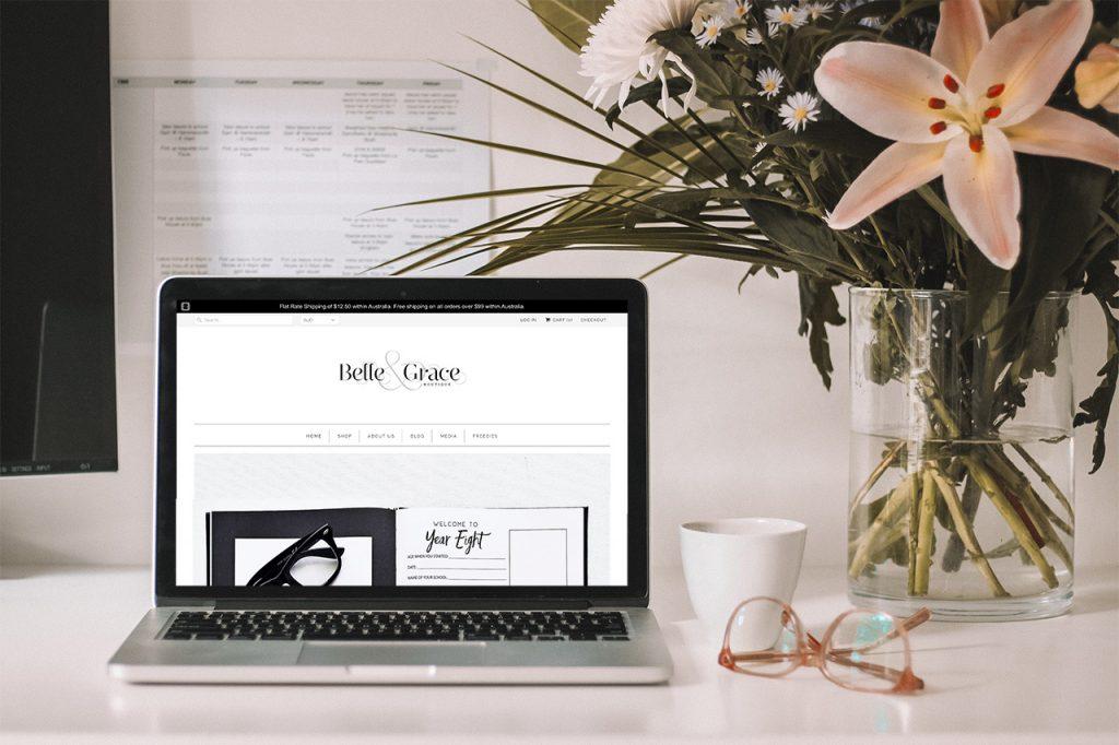 Belle & Grace Boutique Shopify website before redesign - Gold Coast Web Design