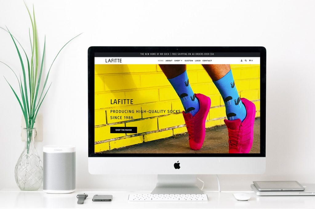 LAFITTE Shopify Website Redesign After - Little Palm Creative Co.