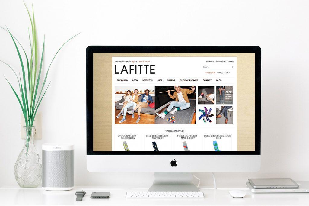 LAFITTE Website Design - Before Refresh