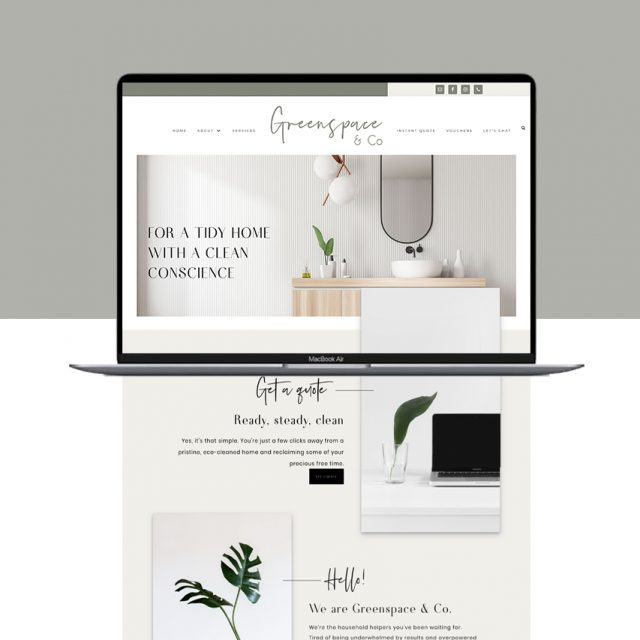 Greenspace & Co Wordpress Web Design