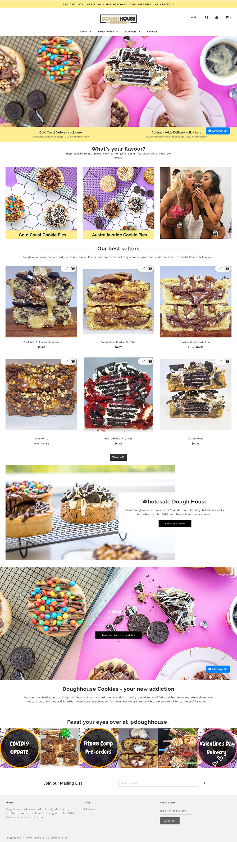 DoughHouse Website Redesign by Little Palm Creative Gold Coast
