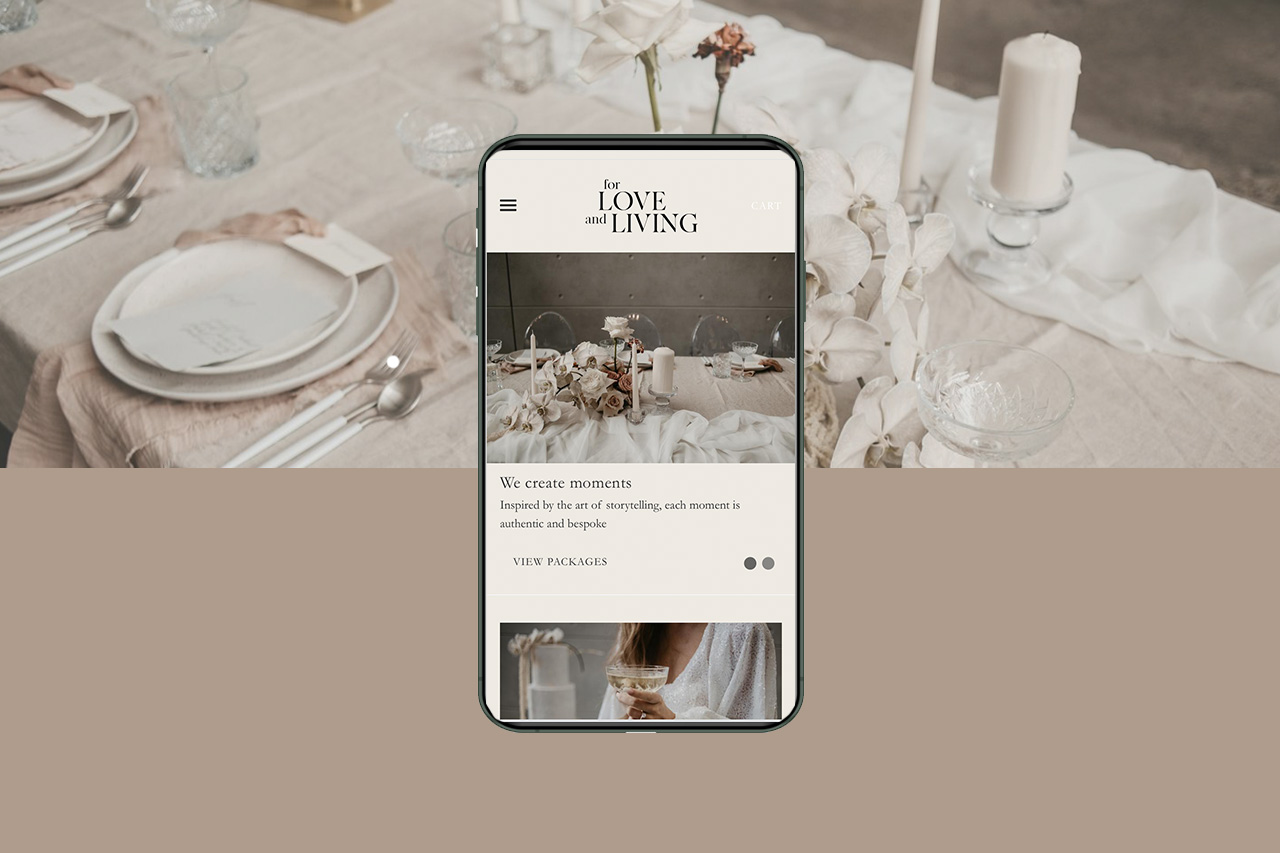 For Love and Living Web Design Shopify Site Little Palm Creative