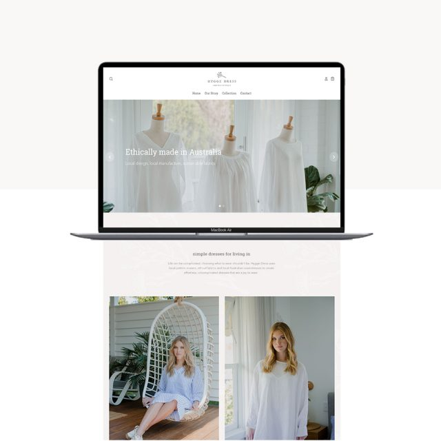 Hygge Dress Website Design - Shopify Web Design Little Palm Creative