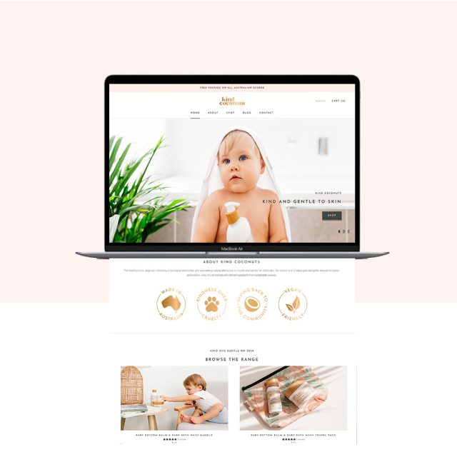 Kind Coconuts Website Redesign | Shopify Website Design Gold Coast