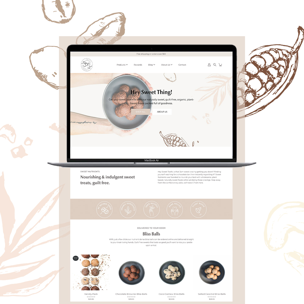 Sweet Nutrients Website Redesign by Little Palm Creative Gold Coast web Design