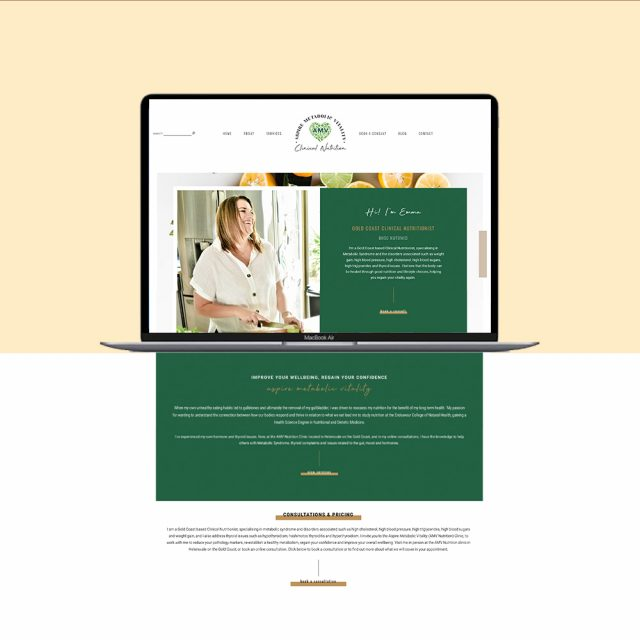Aspire Metabolic Vitality | Wordpress Website design for AMV Nutrition | Little Palm Creative Gold Coast