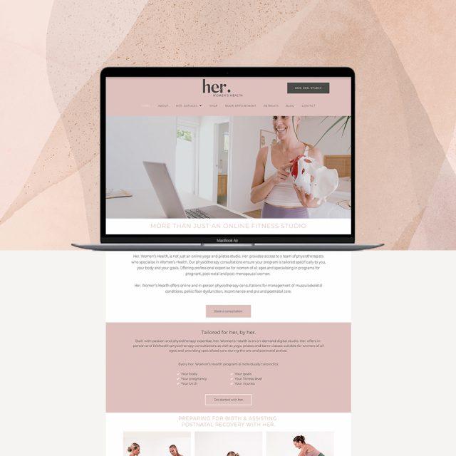 Her. Women's Health Website Design by Little Palm Creative | Wordpress Web Design