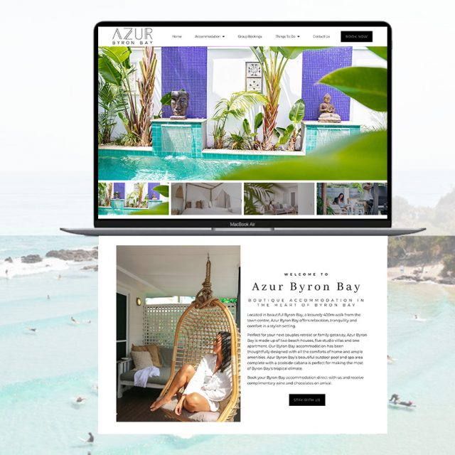 Azur Byron Bay Wordpress Website redesign by Little Palm Creative