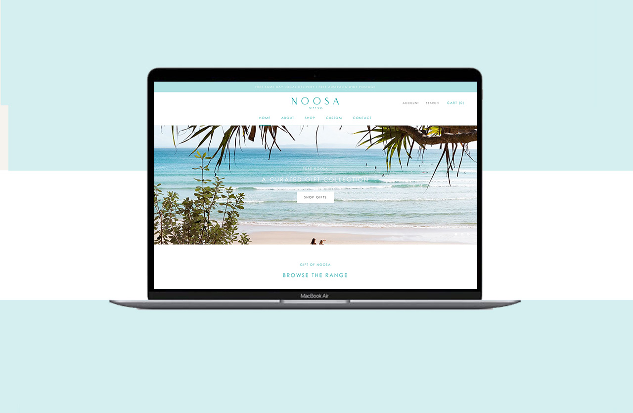Noosa Gift Co. Website Design by Little Palm Creative